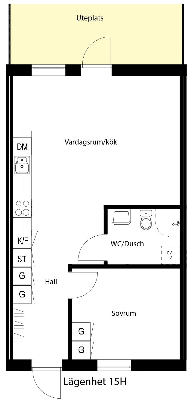 Lägenhetsskiss 15H