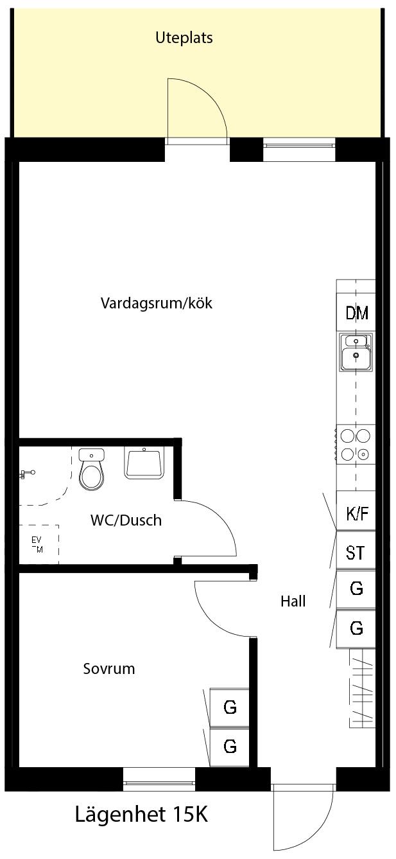 Lägenhetsskiss 15K