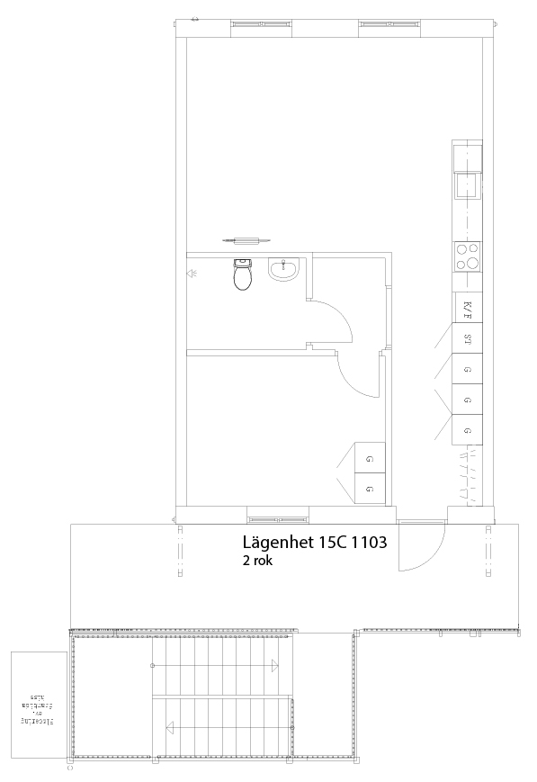 Lägenhetsskiss 15C 1103