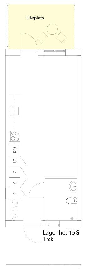 Lägenhetsskiss 15G